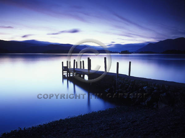 lake derwent blue night